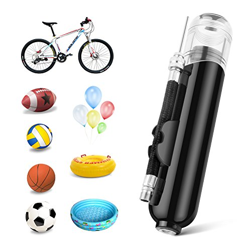 Football,Volleyball Soccer Rugby Sport Ball and Other Sports Ball /… Dual Action Ball air Pump with 4 Needles,3 air Hose and Plastic Needle Best for Basketball