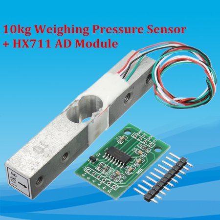 10kg Aluminium Alloy Scale Weighing Pressure Sensor + HX711 Weighing Sensors AD Module - image 2 of 7