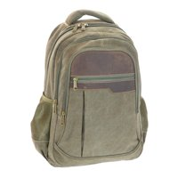 fbfc8a8e8a Product Image Montauk Leather Club Heavy Duty Washed Canvas and Vintage  Leather Accent Backpack with 17 inch compatable