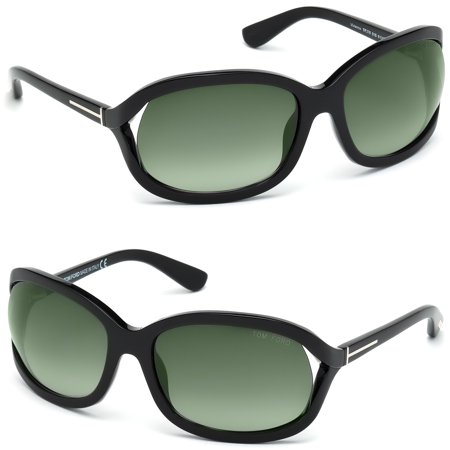 Tom Ford FT0278-01B-61 Vivienne Women's Black Frame Green Lens Sunglasses NWT (Tom Ford Sunglass Lens)