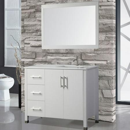 Orren Ellis Prahl 40 Single Sink Bathroom Vanity Set With Mirror