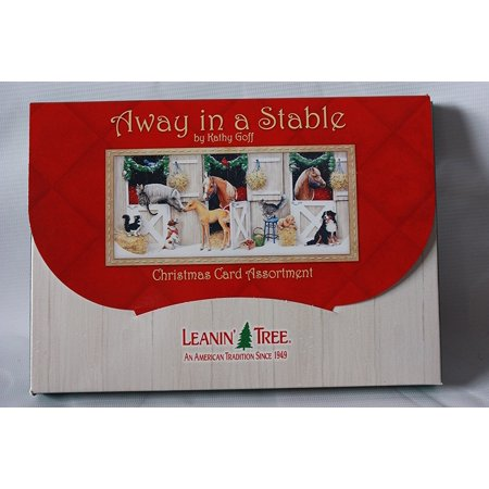 Leanin Tree Christmas Cards.Leanin Tree 20 Pack Design Christmas Cards Away In A Stable By Kathy Goff Made In Usa 20 Christmas Cards 2 Ea Of 10 Designs By Leanin Tree