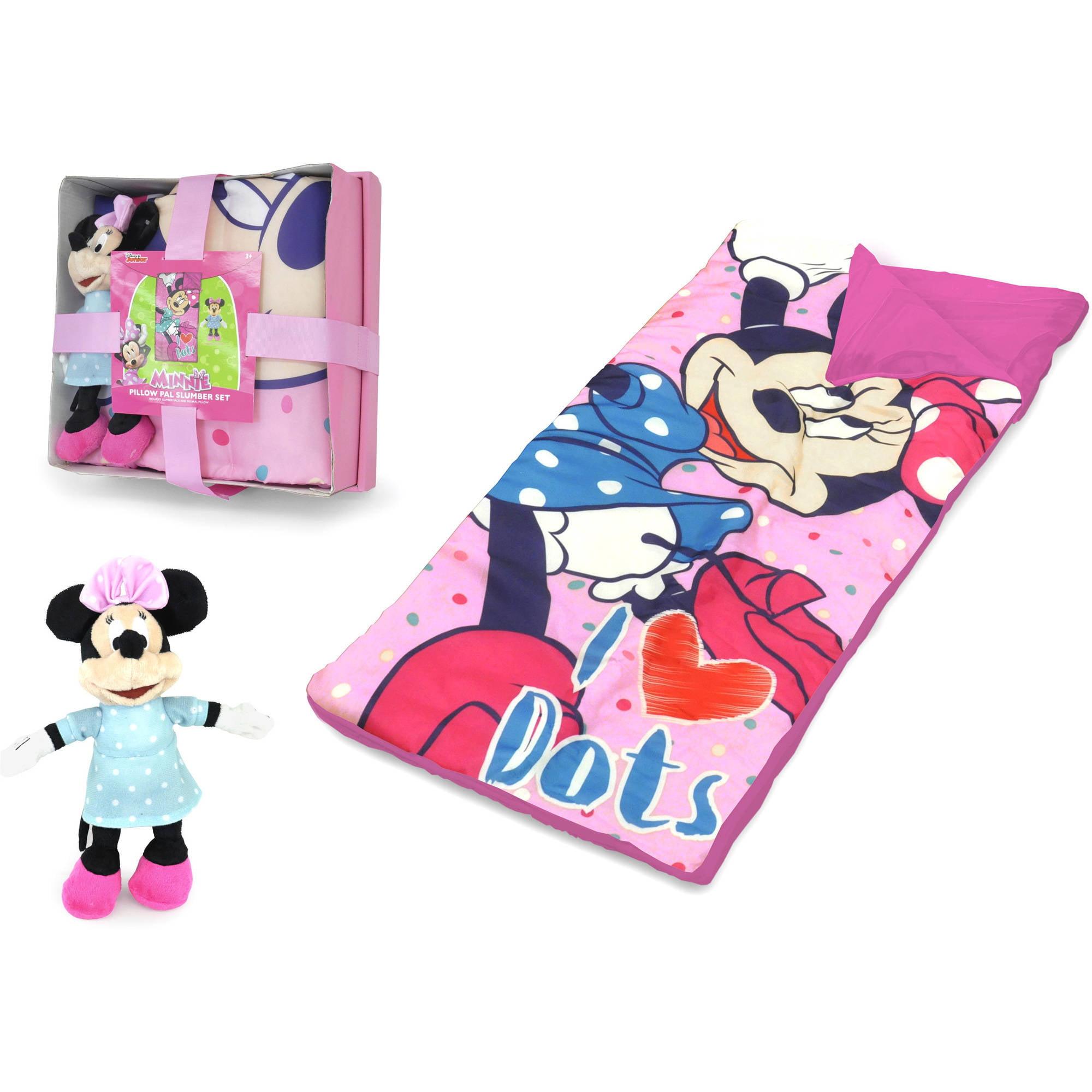 Disney Minnie Mouse Nap Mat with Bonus Figural Pillow by Idea Nuova