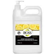 4 Pack - Instant Hand sanitizer 75% ethyl alcohol – Food Grade - Lemon fragrance with Pump Bottle - Skin Friendly - Manufactured in Canada