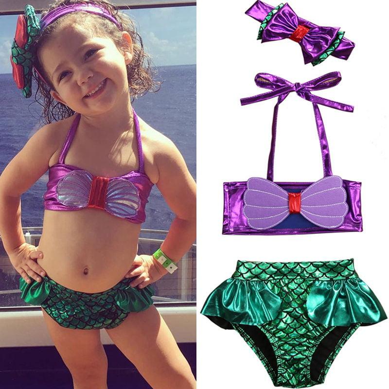 Toddler Kids Floral Tankini Swimwear Swimsuit Baby Girls Bikini Set Bathing Suit
