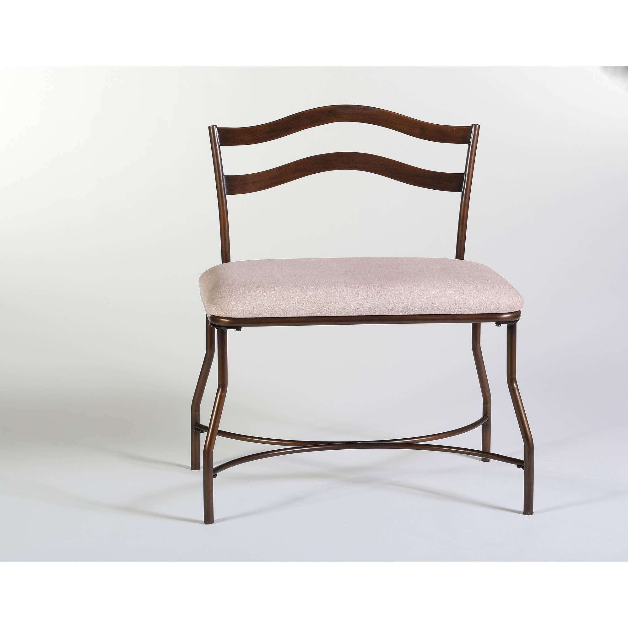 "Hillsdale Furniture, Windsor 26.5"" Vanity Stool, Burnished Bronze Finish by Hillsdale Furniture"