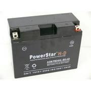 PowerStar PM-24HL-BS-H-D-45488 Harley-Davidson Ytx24Hl-Bs Battery For Kawasaki Zg1200 Voyager Xii 1200Cc 1986-2003