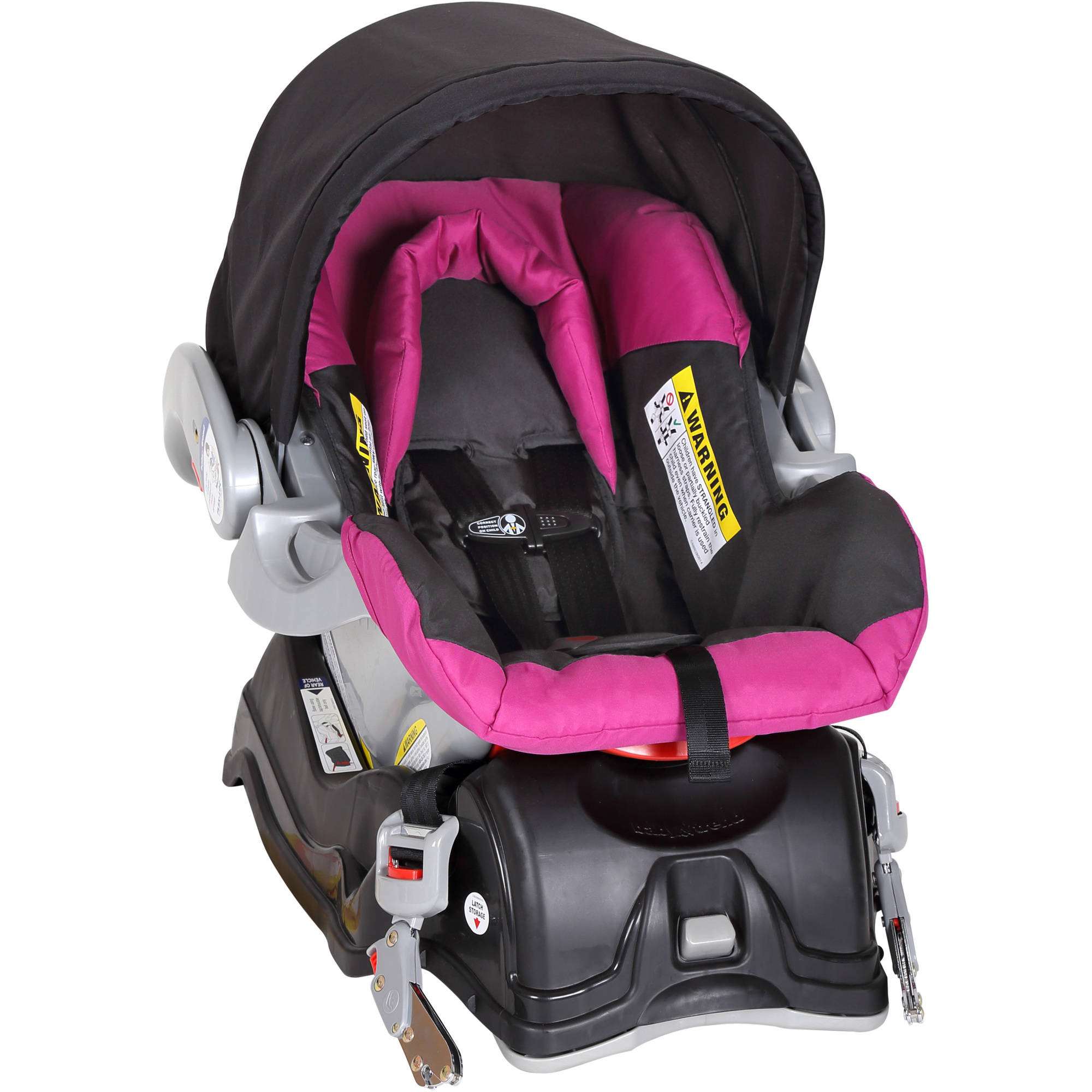 Baby Stroller And Car Seat Travel System Infant Jogging Girls Pink ...