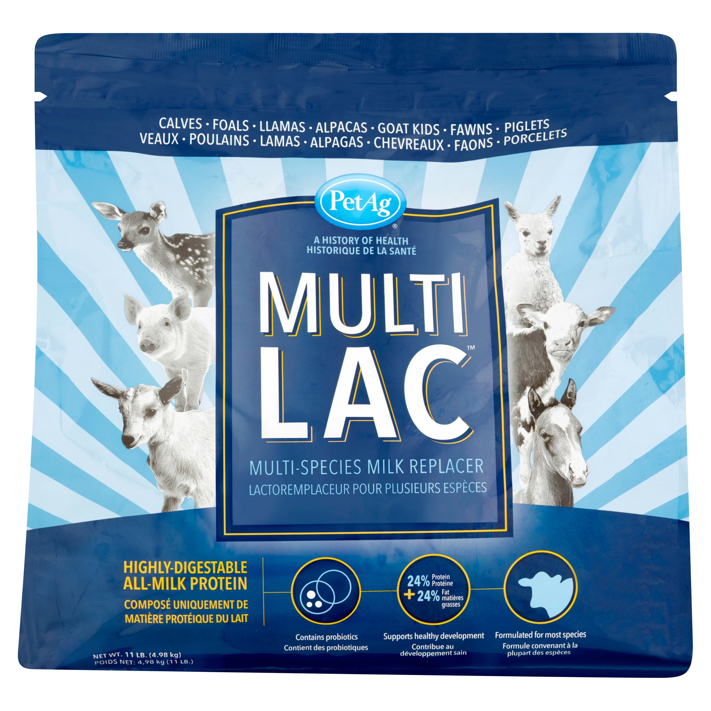 PetAg Multi Lac Multi-Species Milk Replacer, 11 lbs.