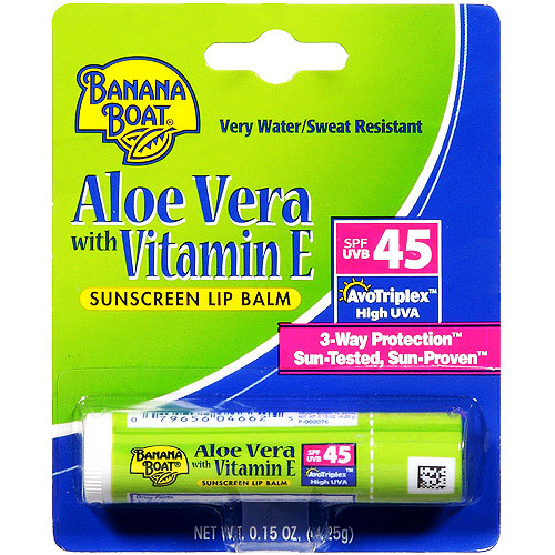 Banana Boat Aloe Vera Sunscreen Lip Balm SPF 45