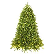 5' Artificial Green PVC Christmas Fir Tree Outdoor w/ Metal Stand and 450 LED Lights