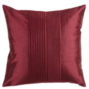 "22"" Maroon Red Tuxedo Pleats Decorative Throw Pillow"