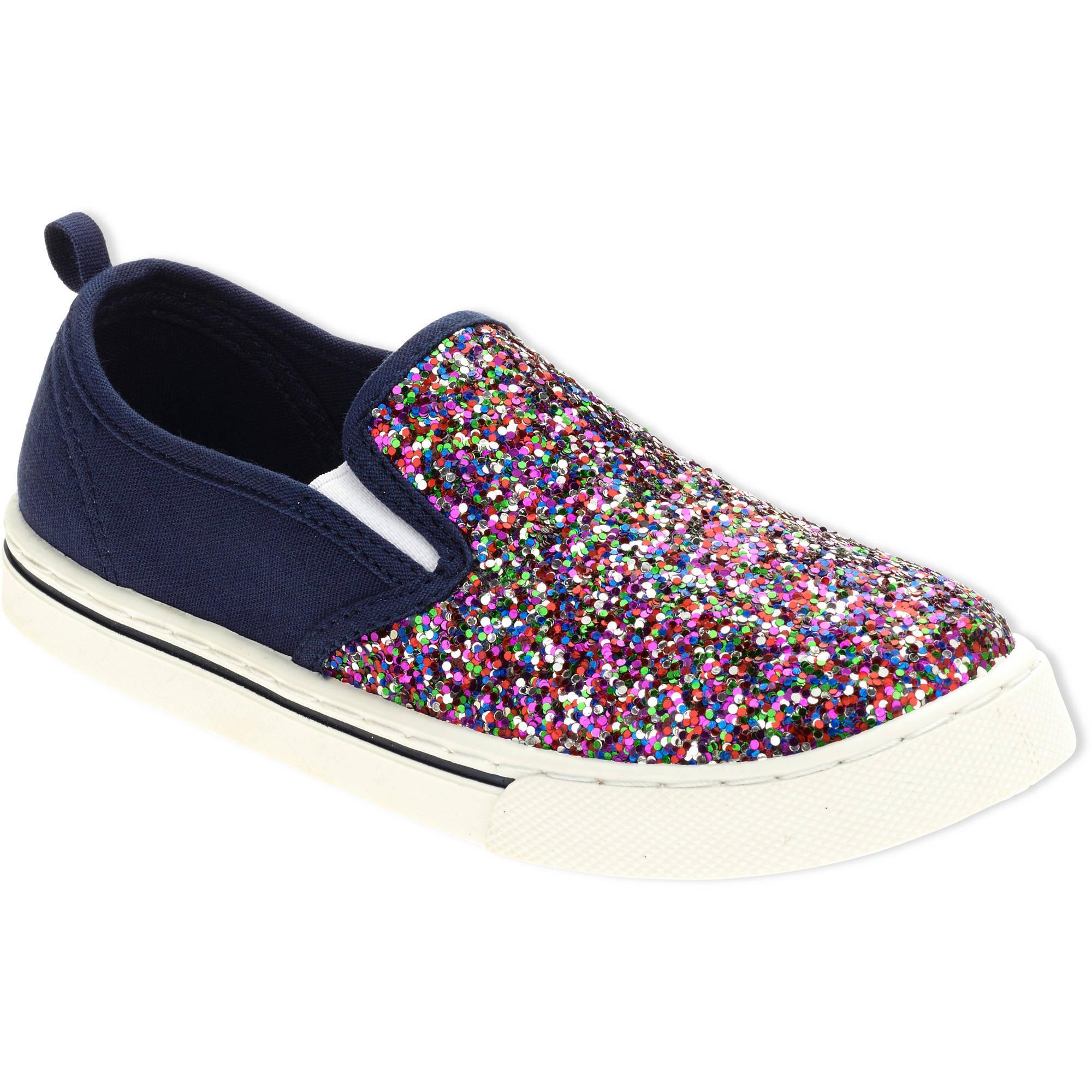 faded glitter canvas shoe walmart