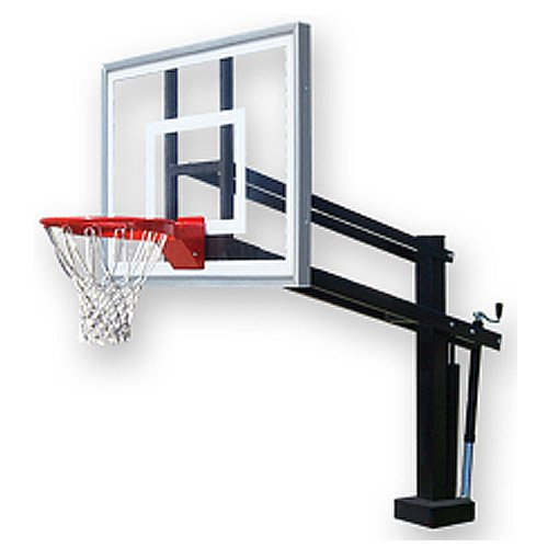 First Team Hydroshot II Swimming Pool Side Basketball Hoop with 48 Inch Acrylic Backboard