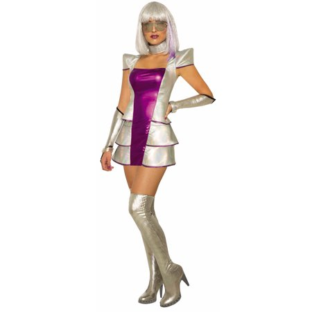 Plutos Princess Womens Adult Outer Space Alien Halloween Costume for $<!---->