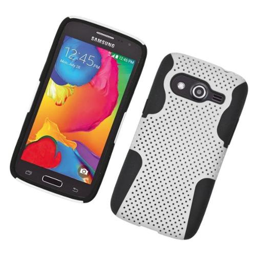Insten Astronoot Hard Dual Layer TPU Case For Samsung Galaxy Avant - White/Black
