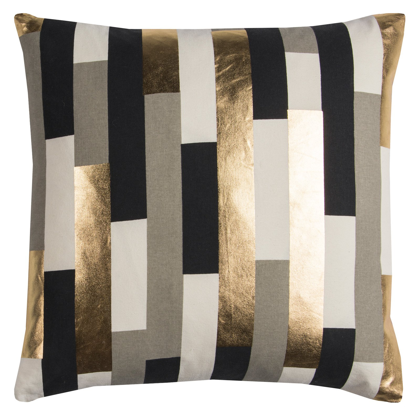 "Rachel Kate By Rizzy Home Decorative Poly Filled Throw Pillow Stripe 20""X20"" Gray"