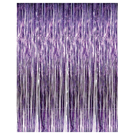 3' x 8' Purple Tinsel Foil Fringe Door Window Curtain Party Decoration - Circus Door Decorations