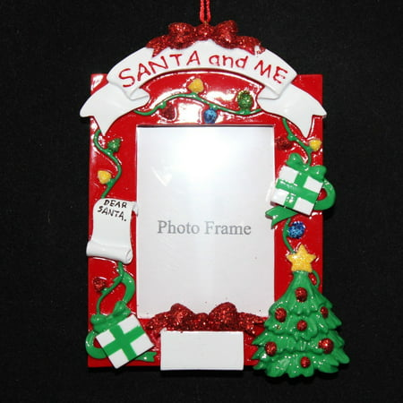 santa me photo with words personalized christmas ornament do it