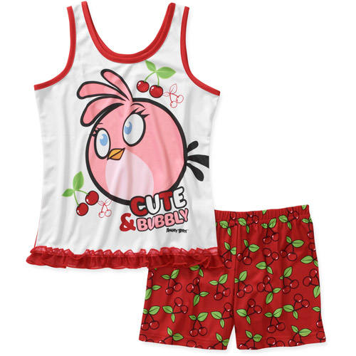 Angry Birds Boys 2 Piece Sleeveless Tee and Short Pajama Set