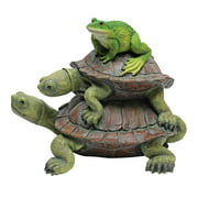 Design Toscano In Good Company, Frog and Turtles Statue