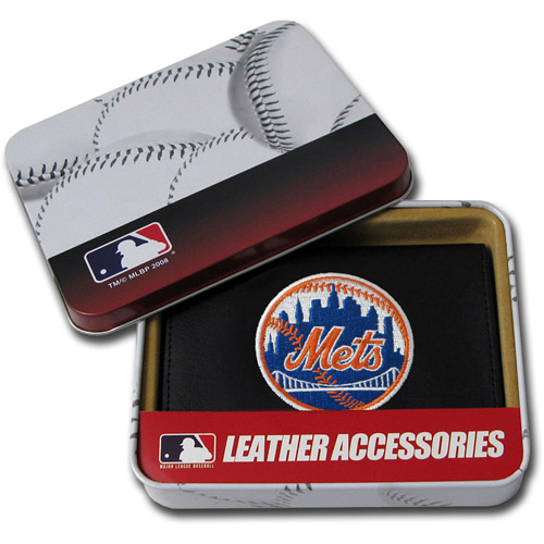 MLB - Men's New York Mets Embroidered Trifold Wallet