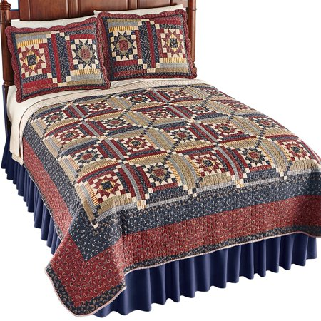 Country Cottage Paisley Patchwork Quilt With Embroidered Detail Bedding And Accents For Bedroom Twin