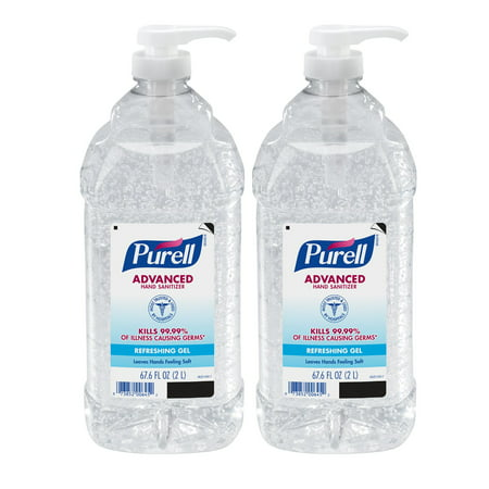 PURELL® Advanced Hand Sanitizer Gel, 2 Liter Pump Bottle, 2 Pack