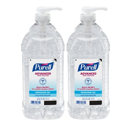 - PURELL® Advanced Hand Sanitizer Gel, 2 Liter Pump Bottle, 2 Pack