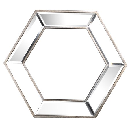 A B Home Decorative Hexagon Wall Mirror