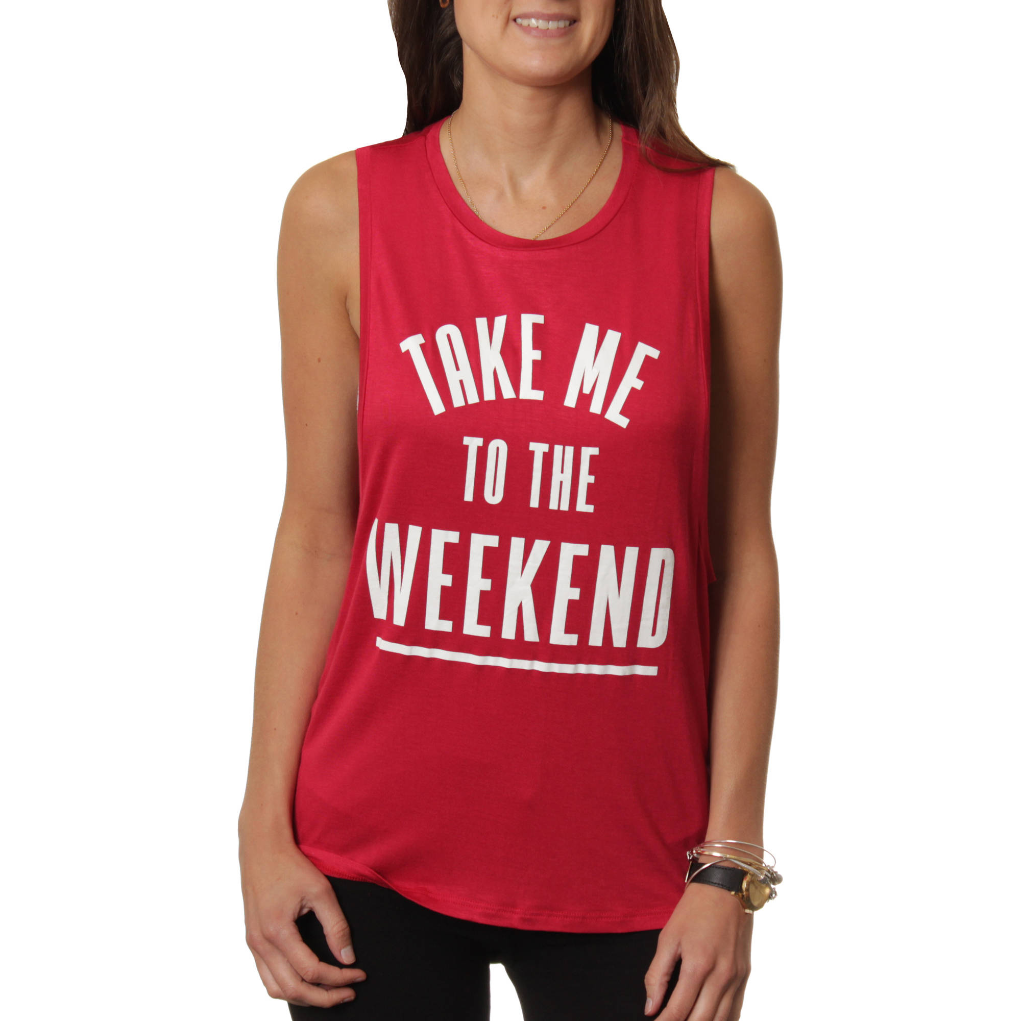"Juniors' ""Take Me To The Weekend"" Graphic Tank"