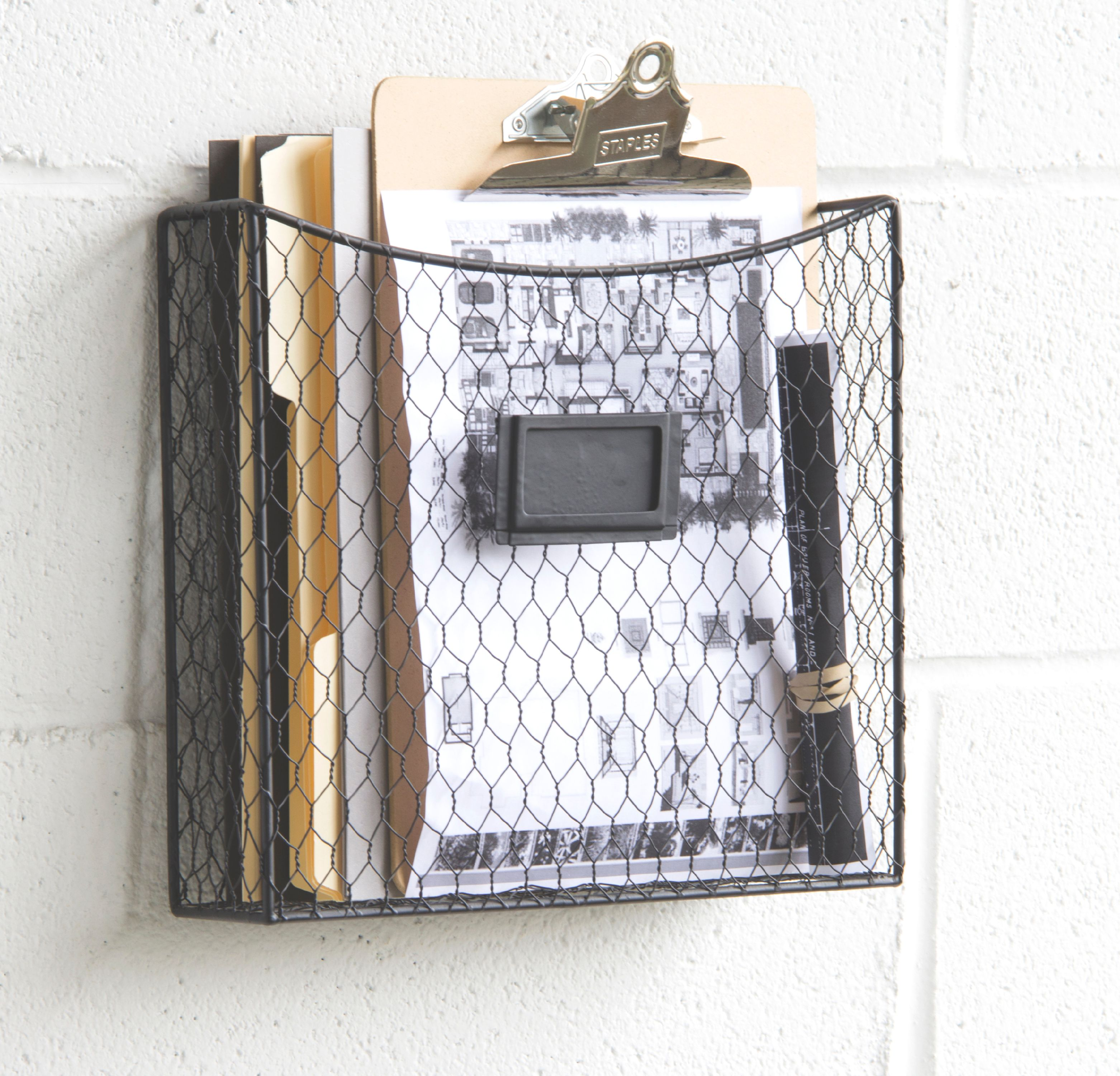 Wall Hanging Wire Baskets mail organizer