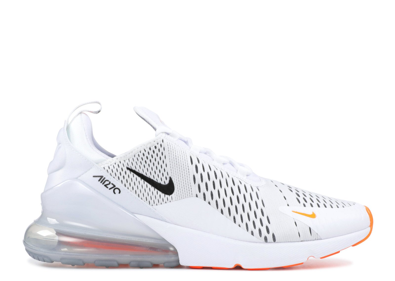 Nike Mens Nike Air Max 270 Just Do It White Black Total Orange