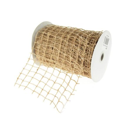 Square Net Jute Wired Ribbon, 6-inch, 10-yard](Jute Netting)