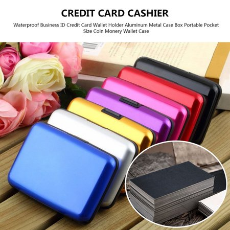 HC-TOP Waterproof Business ID Credit Card Wallet Holder Aluminum Metal Case Box - image 3 of 6