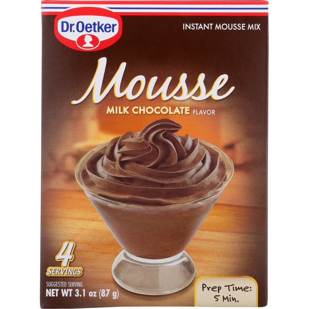 Dr. Oetker Milk Chocolate Mousse Mix, 3.1 Oz (Pack Of 12) by
