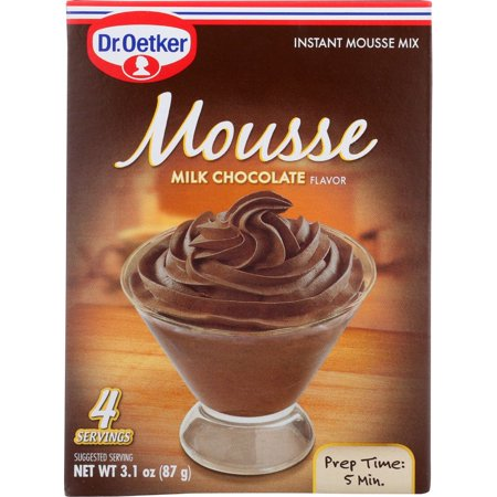 Dr. Oetker Milk Chocolate Mousse Mix, 3.1 Oz (Pack Of 12) ()