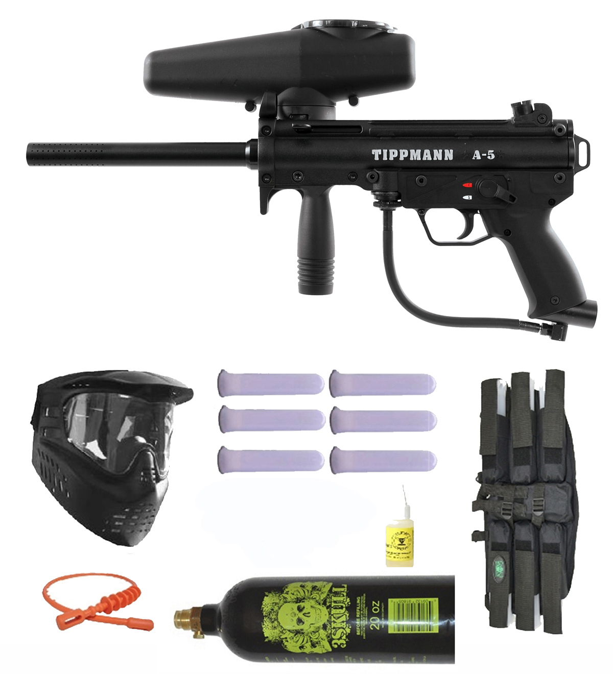 Click here to buy Tippmann A-5 w  Selector Switch Paintball Marker Gun 3Skull Mega Set.