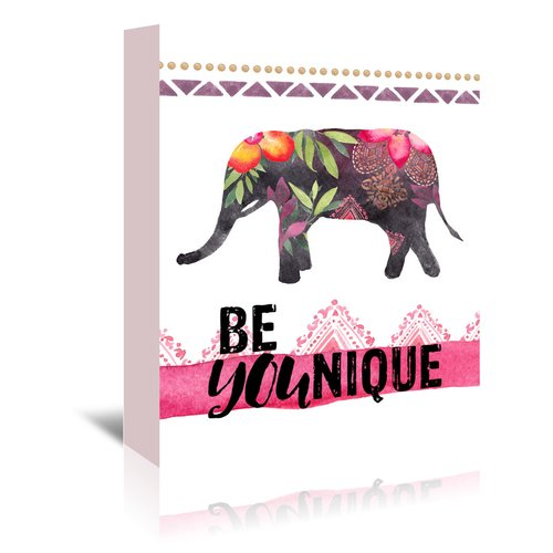 East Urban Home Be YOUnique - Elephant Graphic Art on Wrapped Canvas