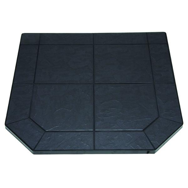 "Volcanic Sand Tile Single Cut Corner Stove Board, 40"" X 40"""