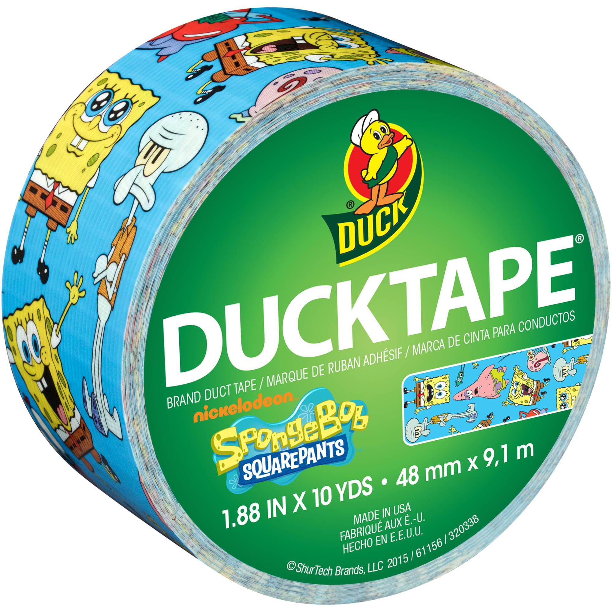 "Duck Brand Duct Tape, 1.88"" x 10 Yards, SpongeBob SquarePants Duct Tape"