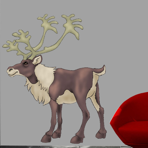 Wallhogs Caribou Cutout Wall Decal
