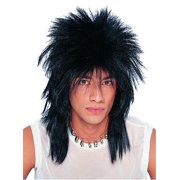 Black Unisex Rocker Adult Wig