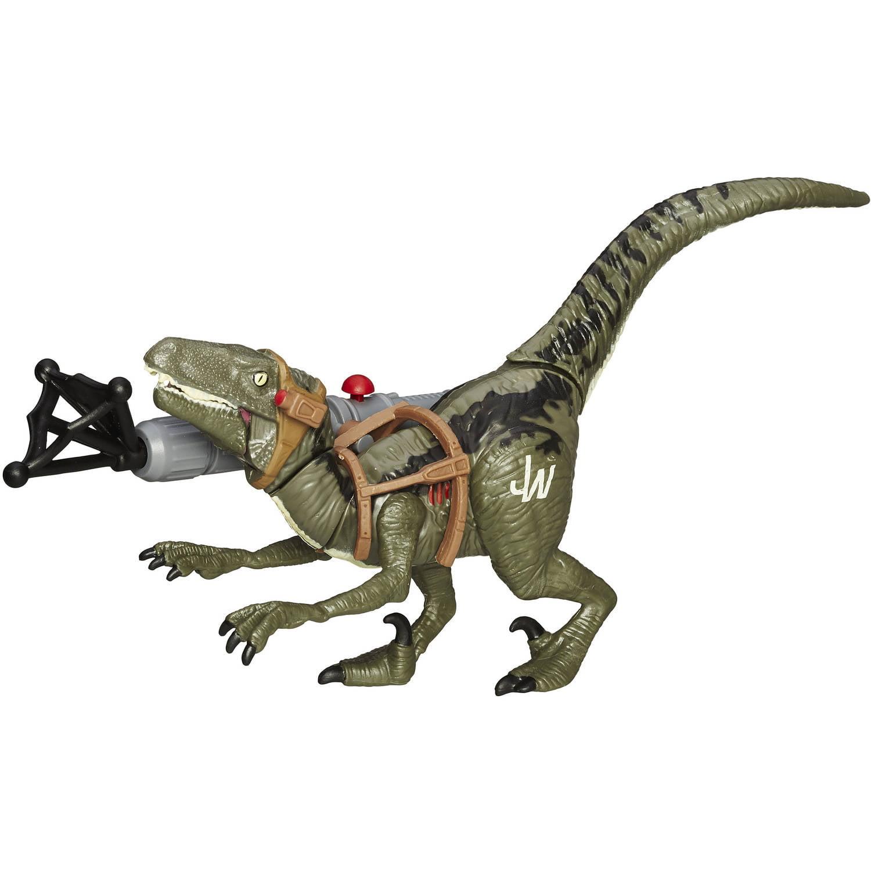 Jurassic World Bashers & Biters Velociraptor Blue