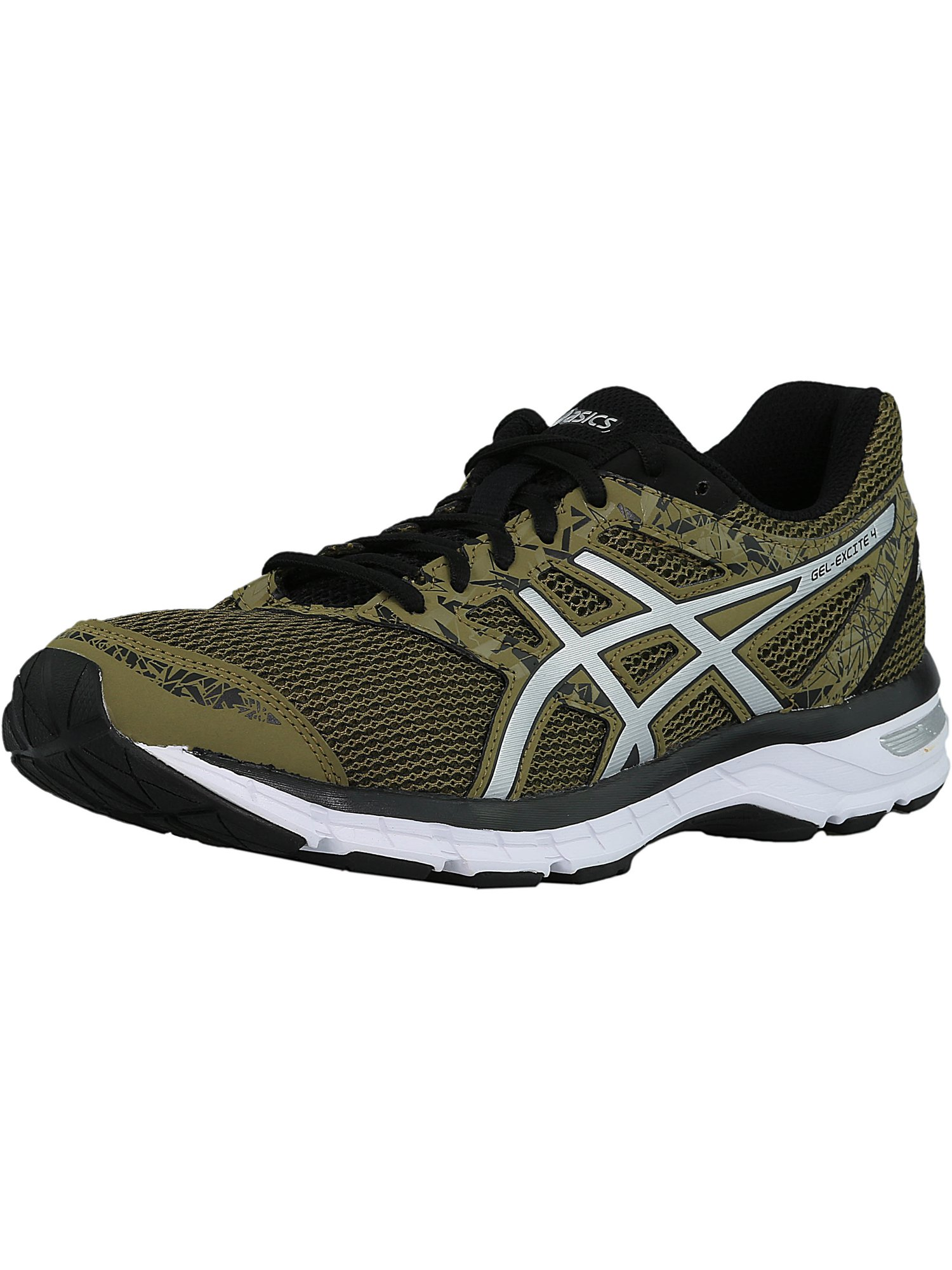 Asics Men's Gel-Excite 4 Martini Olive / Silver Black Ankle-High Running Shoe - 6M