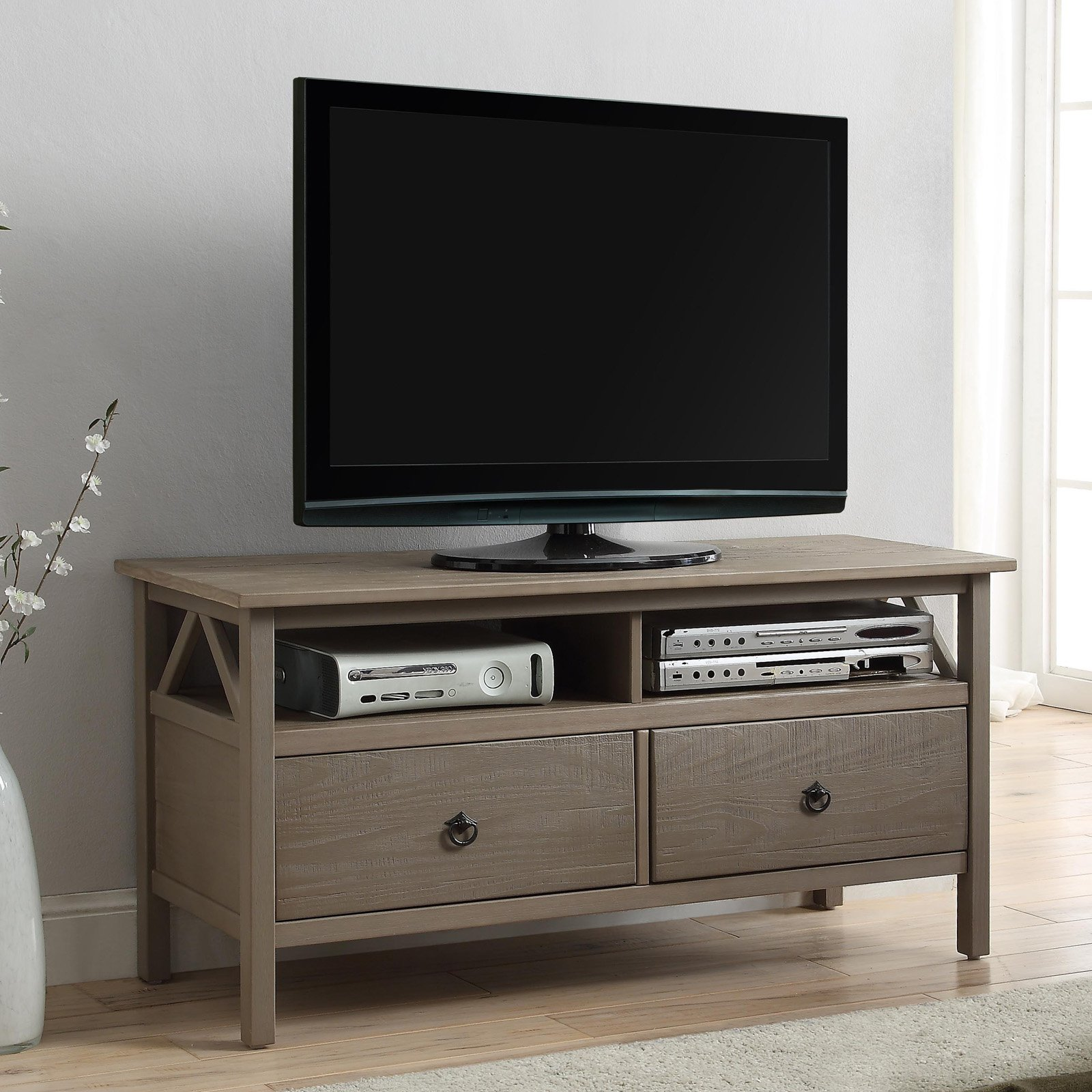 Linon Home Titian Tv Stand For Tvs Up To 40 Inches Multiple Colors