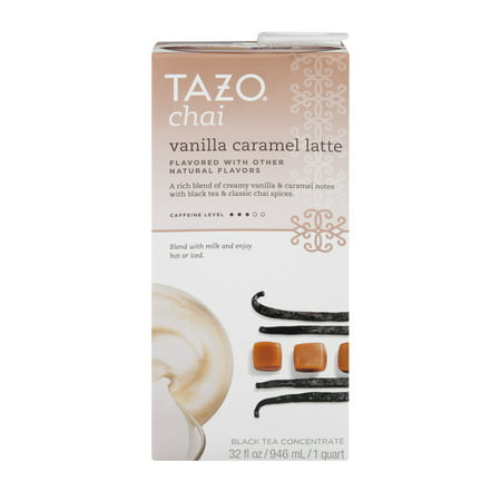 Raspberry Chai Tea - (2 Pack) Tazo Drink Mix, Chai Vanilla Caramel Latte Black Tea, 32 Oz, 1 Count