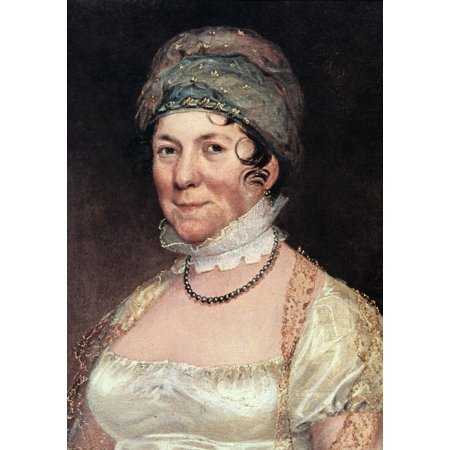 Dolley Payne Todd Madison N 1768 1849  Wife Of President James Madison Oil On Canvas By Ezra Ames Rolled Canvas Art     18 X 24