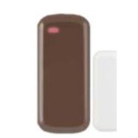 Honeywell Brown Wireless Door / Window Contact supplied with Lithium (Honeywell Magnetic Contacts)