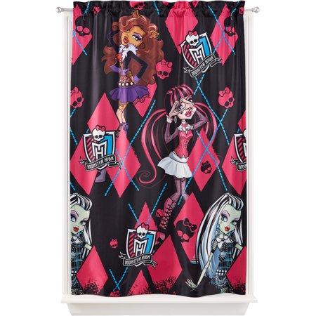 Mattel Monster High Room Darkening Girls Bedroom Curtain